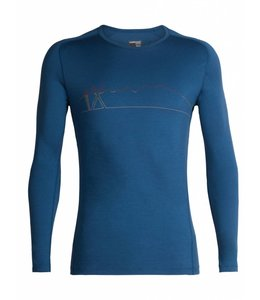 Icebreaker Men's 200 Oasis Deluxe Raglan Long Sleeve Crewe- Single Line Ski