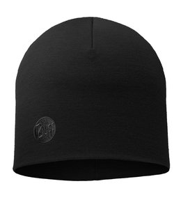 Buff Heavyweight Merino Wool Hat Black