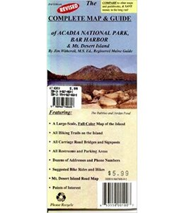 James Witherell The Complete Map & Guide of Acadia National Park, Bar Harbor & Mt. Desert Island