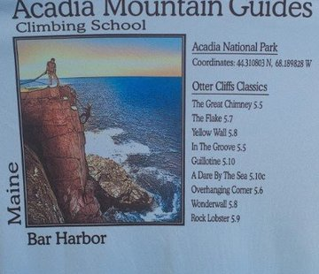 American Backcountry Acadia National Park Otter Cliffs Solar Microfiber Short Sleeve T-Shirt