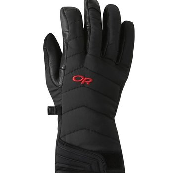 Outdoor Research Ascendant Sensor Gloves Black/Tomato-Large