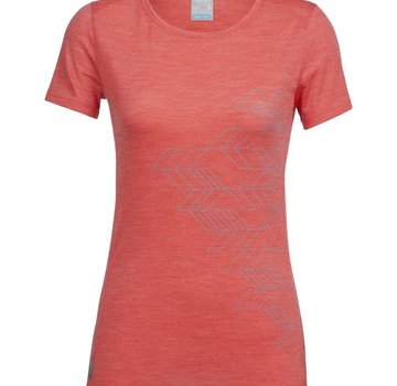 Icebreaker Women's Sphere Short Sleeve Low Crewe Fracture- 2018