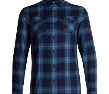 Icebreaker Men's Lodge Long Sleeve Flannel Shirt - Plaid - XXL