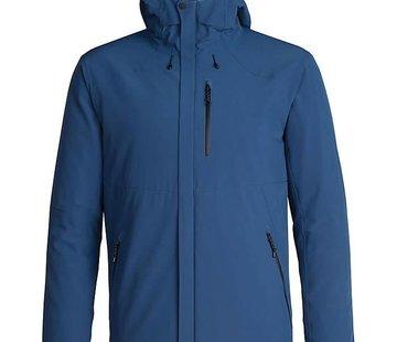 Icebreaker Men's Stratus Transcend Hooded Jacket PRUSSIAN BLUE/Jet HTHR