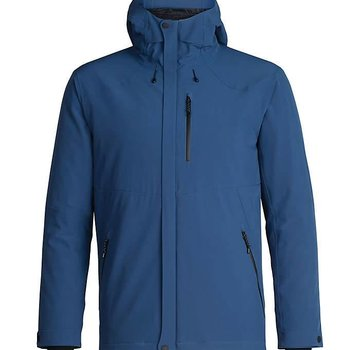 Icebreaker Men's Stratus Transcend Hooded Jacket PRUSSIAN BLUE/Jet HTHR