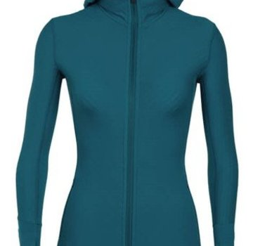 Icebreaker Women's Descender Long Sleeve Zip Hood
