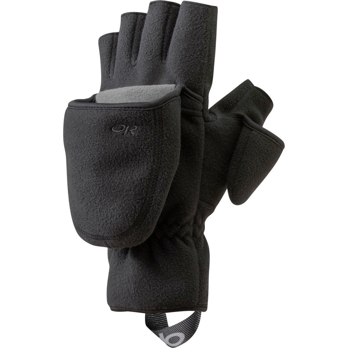 Mens Micro-fleece Convertible Sport Glove//mitten-windproof