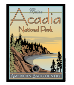American Backcountry Acadia National Park Vintage Poster T-Shirt