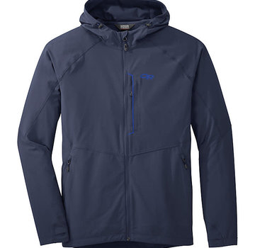 Outdoor Research Men's Ferrosi Hooded Jacket - Navel Blue -