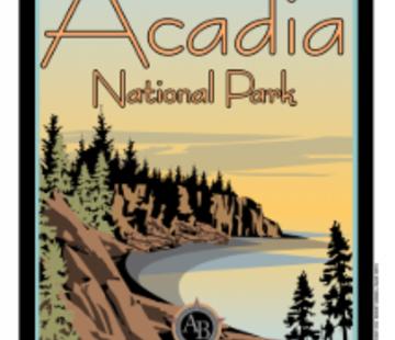American Backcountry Acadia National Park Vintage Short Sleeve