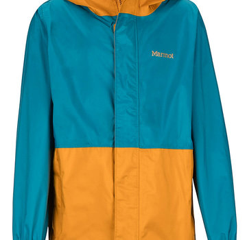 Marmot Boy's PreCip Eco Rain Jacket Late Night/Aztec Gold
