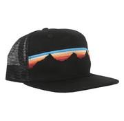 Locale Outdoors Alpenglow Teton Sunset Flatbrim Hat Black
