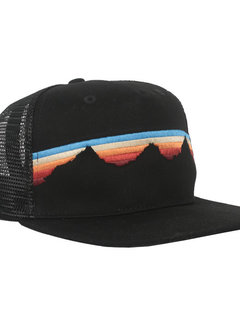 Locale Outdoors Alpenglow Teton Sunset Flatbrim Hat Black