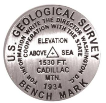 Geographic Locations International Cadillac Bench Mark Magnet Grey