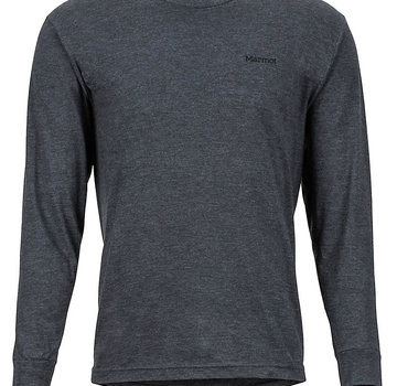 Marmot Men's Woodcut Long-Sleeve Tee Charcoal Heather