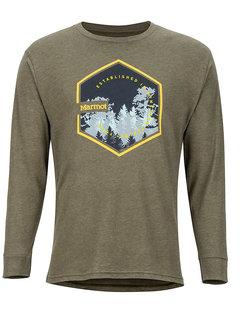 Marmot Men's Deep Forest Long-Sleeve Tee Olive Heather