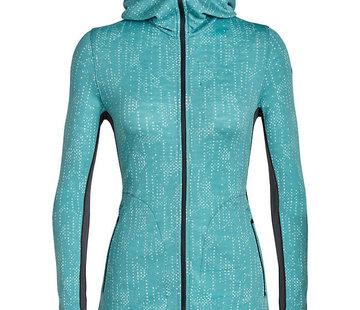 Icebreaker Women's Away Long Sleeve Zip Hoody Showers