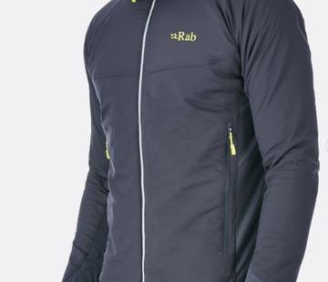Rab Men's Alpha Flux Jacket - Beluga/Beluga/Ash - XL