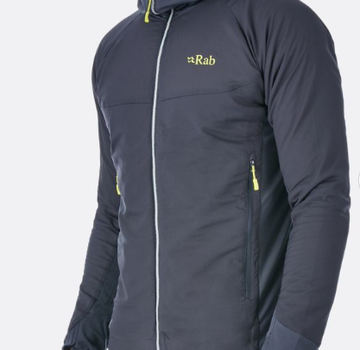 Rab Men's Alpha Flux Jacket - Beluga/Beluga/Ash - XL