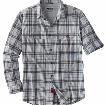 Mountain Khakis Men's Skiff Shirt - Gunmetal Plaid - Small