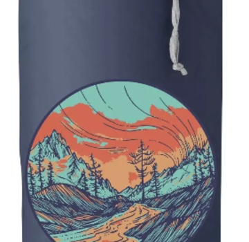 Outdoor Research Graphic Stuff Sack Alpenglow Dusk 10L