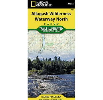 National Geographic Allagash Wilderness Waterway North Map