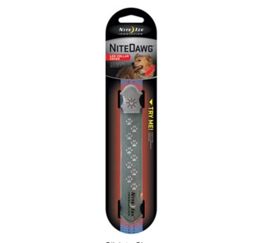Nite Dawg LED Collar Cover Gray