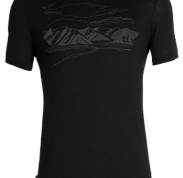 Icebreaker Men's Tech Lite Short Sleeve Crewe Coronet Peak
