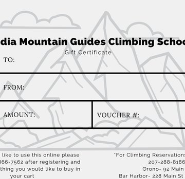 Acadia Mountain Guides Gift Card