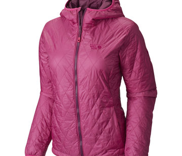 Mountain Hardwear Women's Thermostatic Hooded Jacket-Deep Blush- XS
