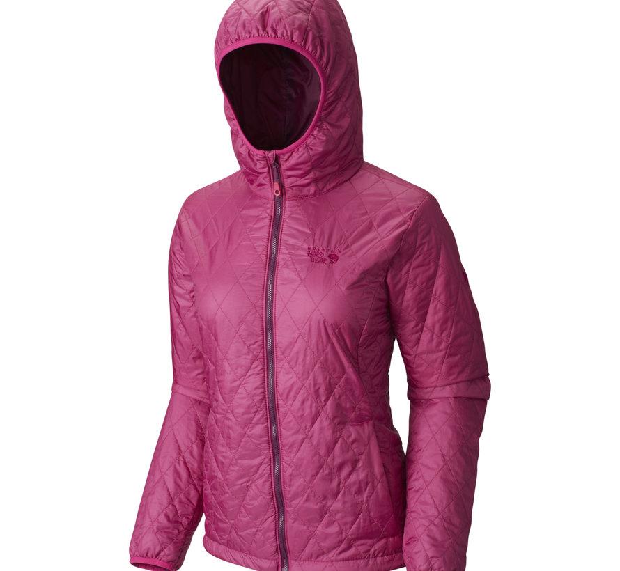 Women's Thermostatic Hooded Jacket-Deep Blush- XS