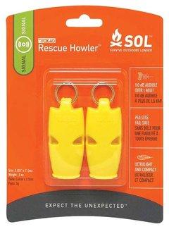 Survive Outdoors Longer Rescue Howler Whistle 2Pk