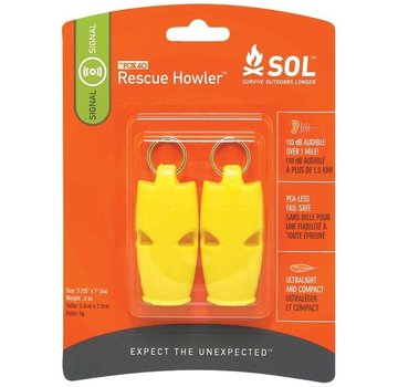 Survive Outdoors Longer Rescue Howler Whistle 2Pk