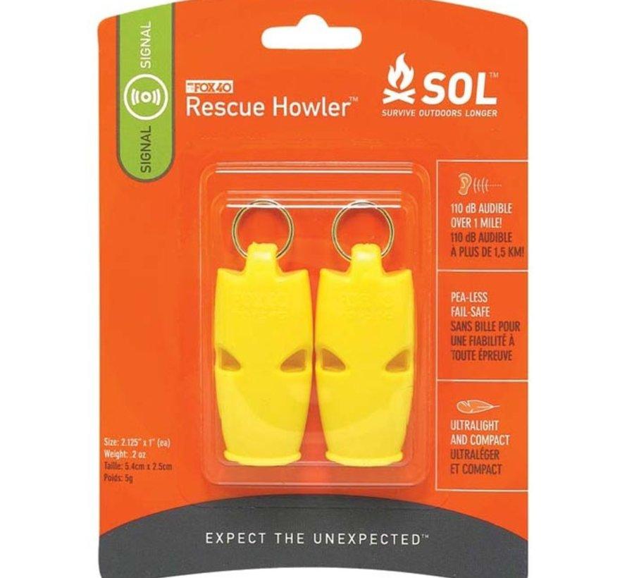 Rescue Howler Whistle 2Pk