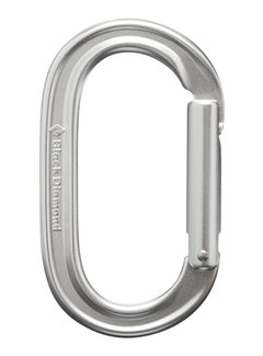 Black Diamond Oval Keylock Carabiner- Polished
