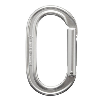 Black Diamond Oval Keylock Carabiner- Polished