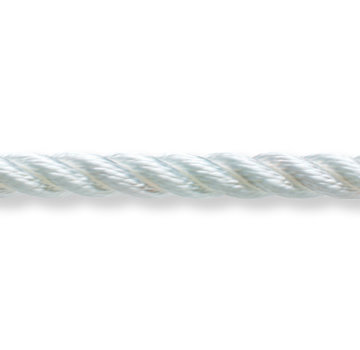 New England Ropes White Classic 3 Strand Continuous Filament Polyester Boat Rigging Cord (By the Foot)