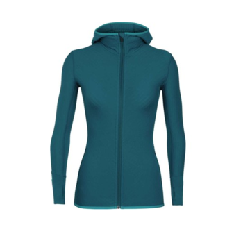 Icebreaker Women's Descender Long Sleeve Zip Hood
