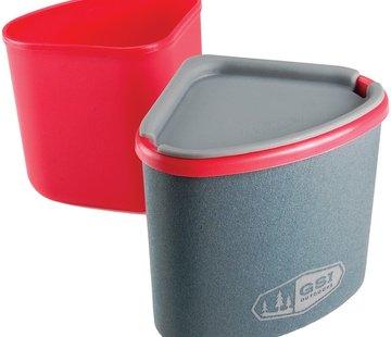 Gourmet Nesting Mug + Bowl Red
