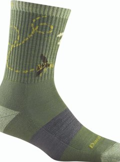 Darn Tough Women's Queen Bee Micro Crew Lightweight with Cushion Socks