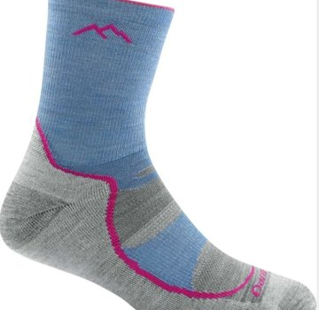 Darn Tough Girl's Light Hiker Jr Micro Crew Lightweight with Cushion Socks