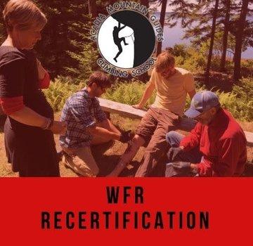 Acadia Mountain Guides Course - 3 Day WFR Recertification Course - MDI