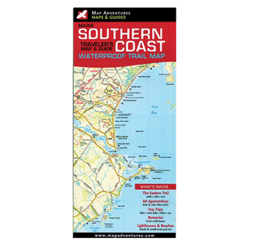 Map Adventures Maine Southern Coast Waterproof Trail Map