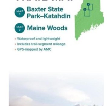 Appalachian Mountain Club AMC Maine Mountains Trail Maps 1 & 2