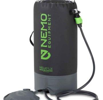 NEMO Equipment Helio LX Pressure Shower (Black/Apple Green)