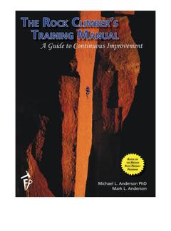 Fixed Pin Publishing The Rock Climbers Training Manual