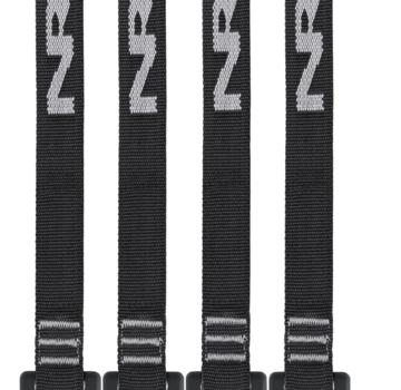 """NRS 1"""" Buckle Bumper Straps 12' Black Pair"""