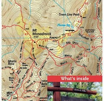 Map Adventures Mount Monadnock Trail Map:  Southern New Hampshire