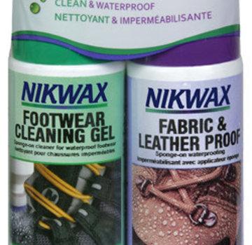Nikwax Waterproofing Wax for Leather Liquid Duo-Pack 4.2 oz Footwear Waterproofing