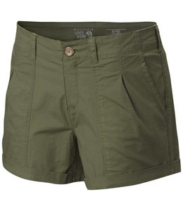 Mountain Hardwear Women's Wandering Solid Shorts- Mosstone- 14